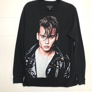 Tops - Johnny Depp Cry Baby Graphic Long Sleeve Shirt